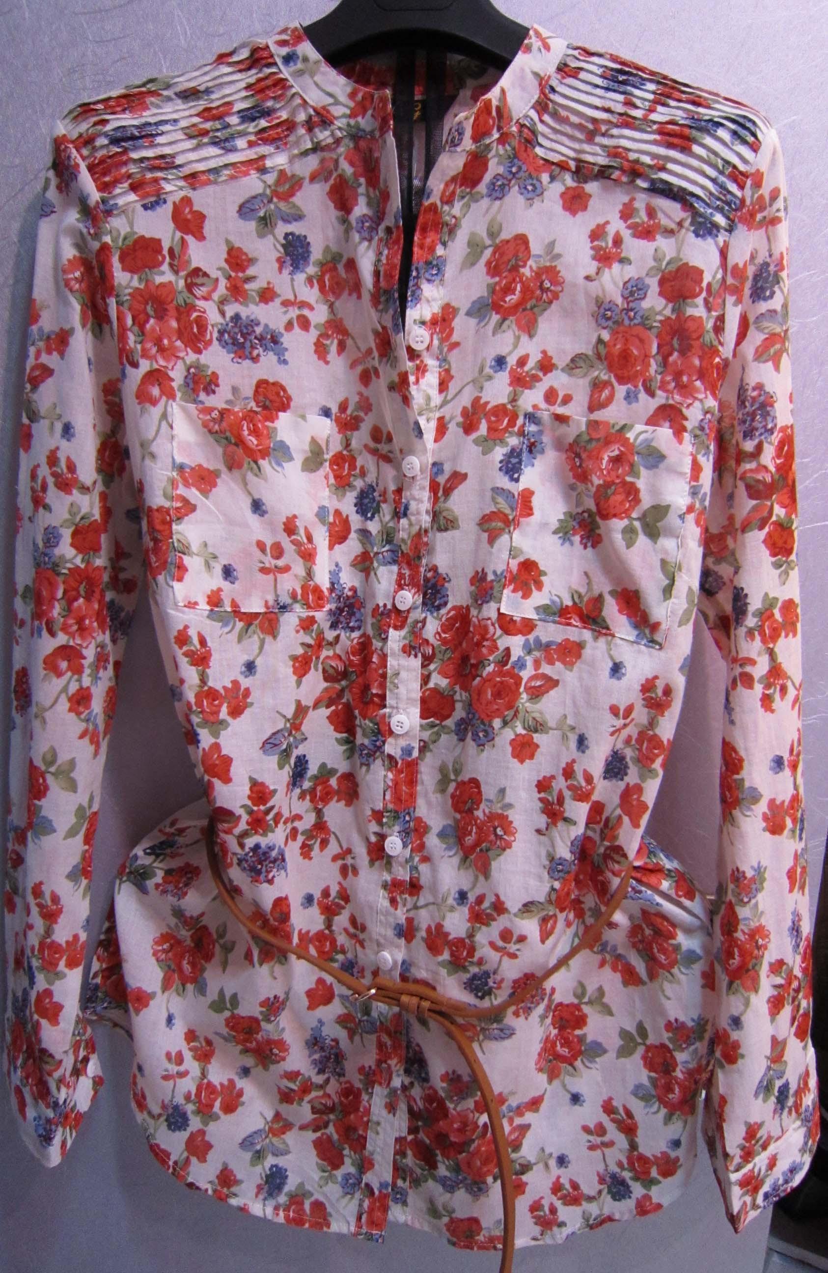 женская рубашка NG 2000 Повседневный Длинный рукав Рисунок в цветочек