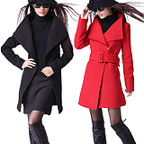Special Clearance! New spring size womens autumn and winter was thin woolen coat in long woolen coat