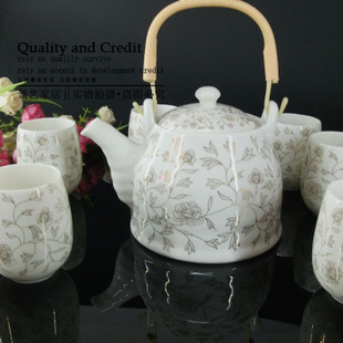 Super affordable set of seven large tea set in Jingdezhen  suihua filters gift box packaging