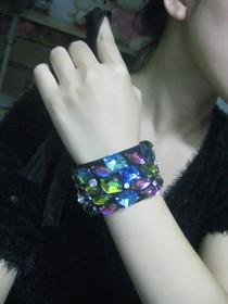 蕾丝英伦复古配饰手链女腕带批发哥特 cosplay黑色编辑 |