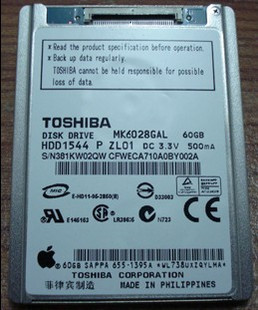 Toshiba/东芝1.8寸60G CE接口 IPOD classic/video硬盘/MK6028GAL