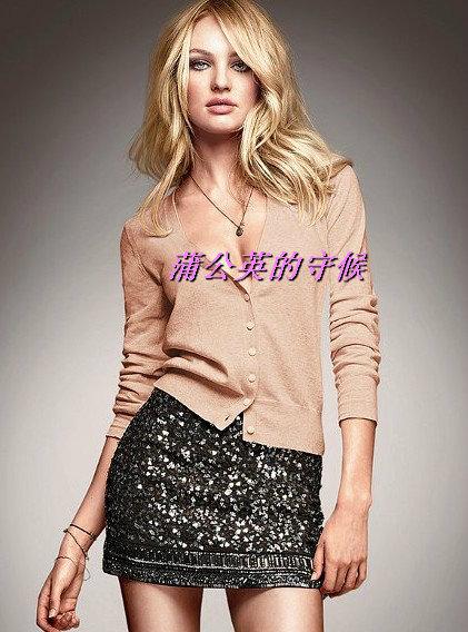 Свитер женский Victoria's Secret MODA хлопок длинный рукав классический рукав V-образный вырез