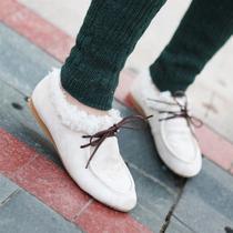 2012冬季新款女鞋单鞋保暖加绒磨砂皮韩版休闲气质个性女单鞋包邮