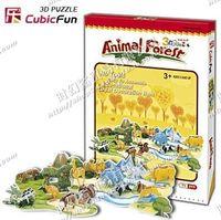 特价正品乐立方 3D立体拼图模型 创意礼物 C012H动物大森林 儿童