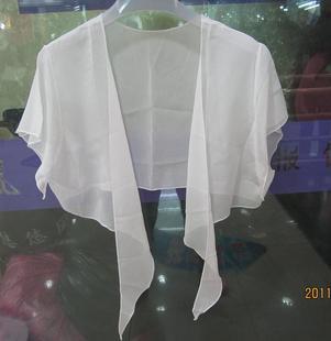 桑蚕丝100%真丝小披肩 短披肩 小外套 白色真丝小坎肩