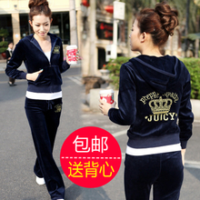 2014 Years New Sportswear Ladies Korean Model Gold Velvet Slim Plus Size Sweater Casual