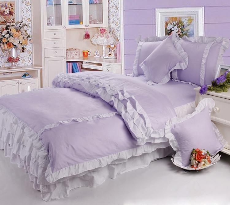 洛丽塔公主六件套淡紫色