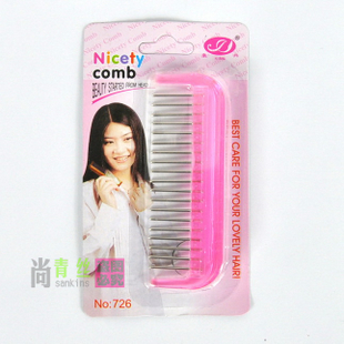 Special defiant-static-proof steel comb for black hair wig wigs accessories