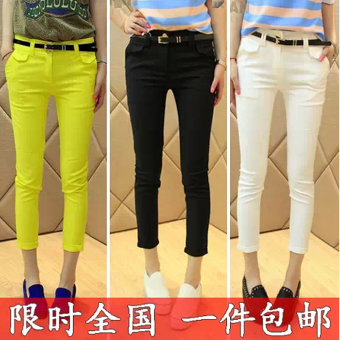 2014-new Korean version of summer clothes ladies plus size skinny pencil pants feet pants