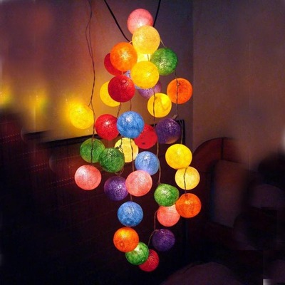 Thailand Line Bar Code ball decorative lights string lights string lights wedding birthday with Christmas and New Year decorations