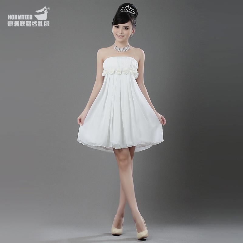 婚纱礼服 短款性感吊带小礼服 公主伴娘服