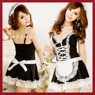 Alio Moon Maid clothes princess dress suit maid uniforms temptation to role play costume sexy lingerie pink