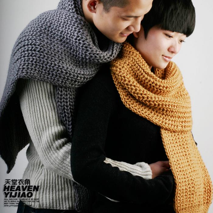шарф Элегантный, чувствуя грубой шерсти милая пара ~ тонкой ручной простота шарф
