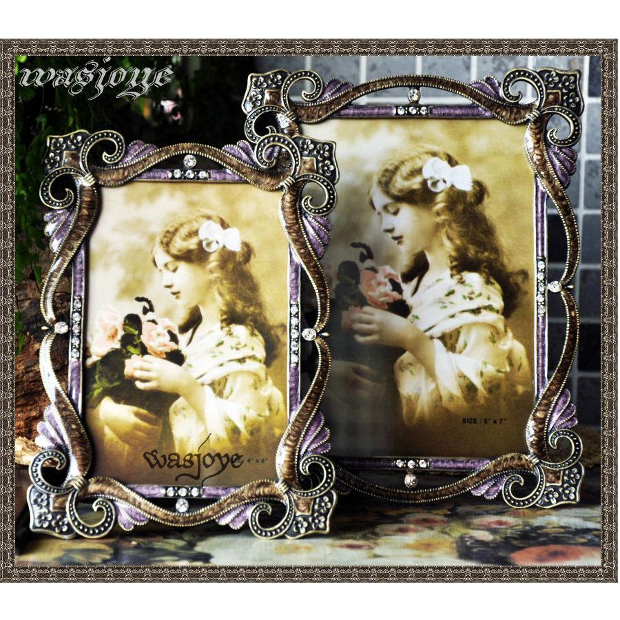 艾莉娜的束带 古典欧式巴洛克 经典复古创意金属摆台相框相架图片