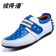 Peter pan authentic soft face P306 male summer rubber neutral car suture round head shoes leather shoes on sale promotion