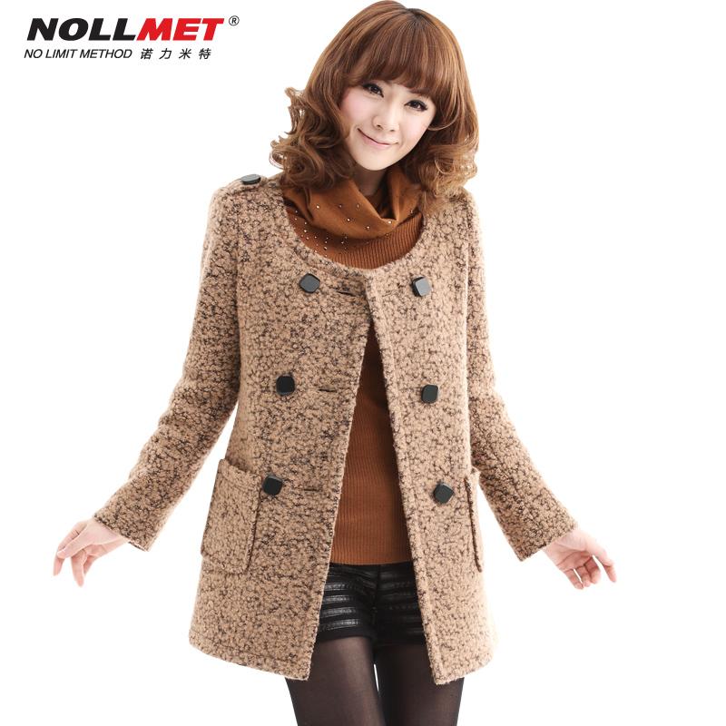 Nuolimite fall/winter 2013 with Korean spring Barret coat wool coats slim Jacket Women N11081