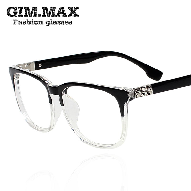clear black square eyeglasses