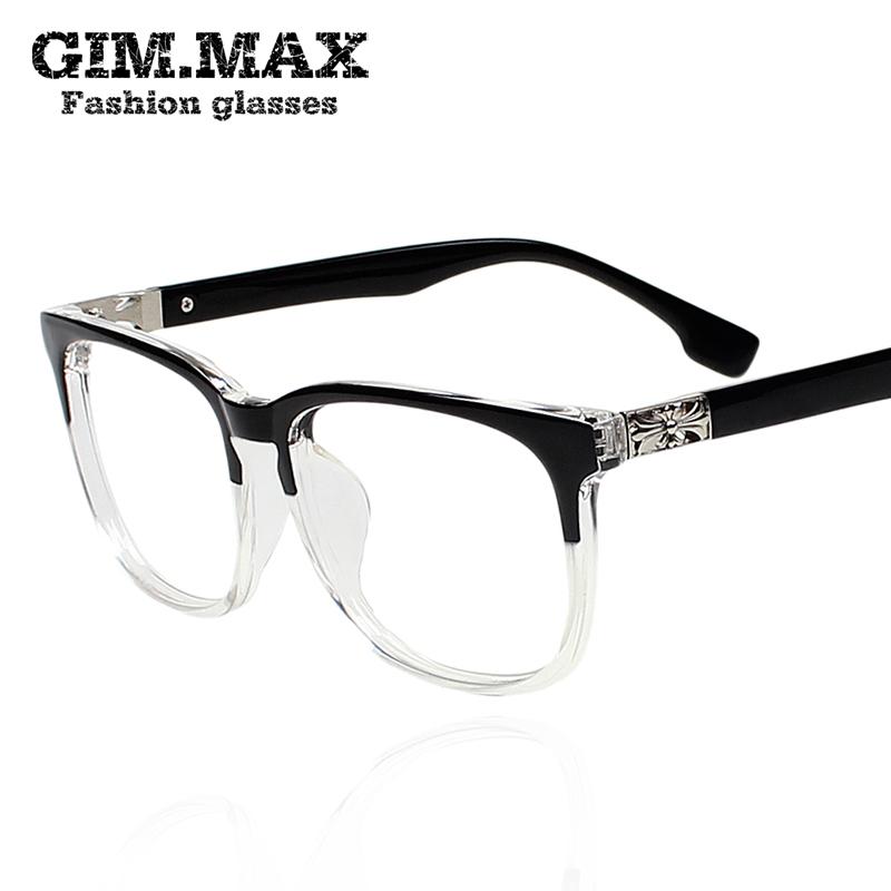 GIMMAX translucent black-rimmed glasses on a large square frame ...