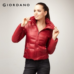 2012 Giordano 01371531 collar skinny slender waist down jacket, coat dress qingnuan