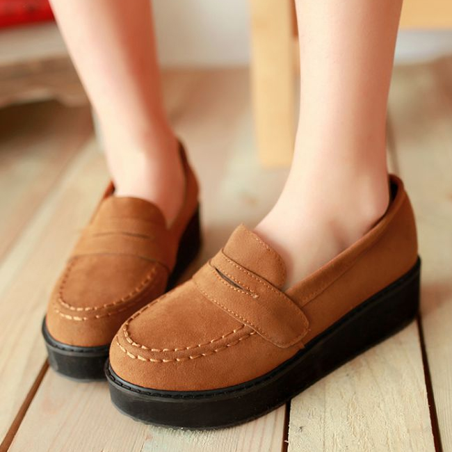 Tide spring 2014 shoes new Korean fashion shoes Japanese muffin round bottomed women shoes girls high school students