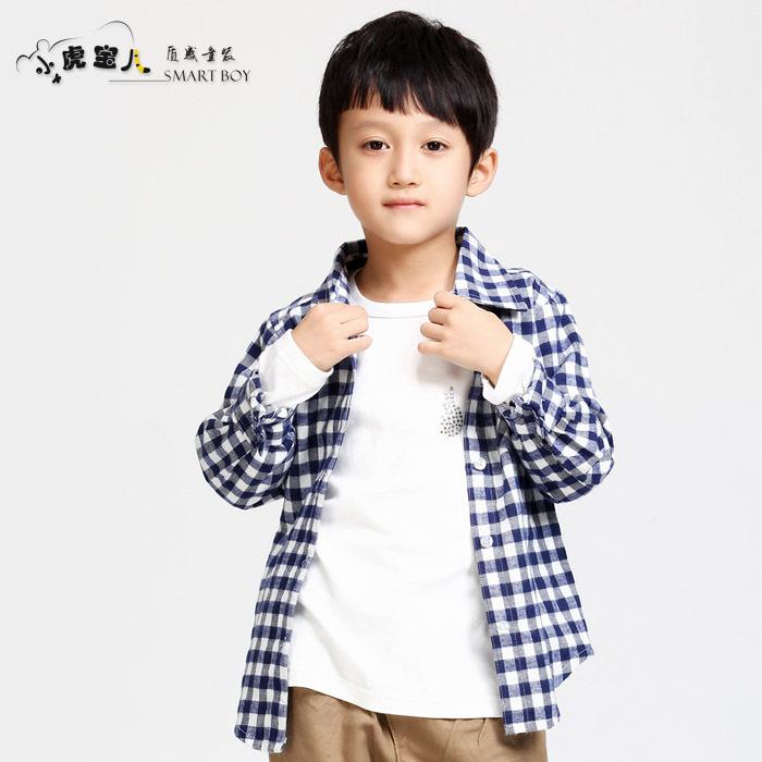 Рубашка детская T/Baby tc0108/3 2013 Муж. 100 хлопок Весна-осень Рубашка с длинными рукавами % Отложной воротник
