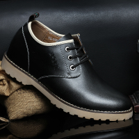 低帮隐形内增高男鞋6-8CM真皮鞋韩版潮流日常休闲潮流男鞋子2015