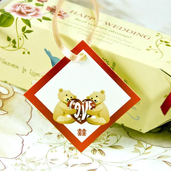 圆缘喜事-喜糖盒子吊牌 喜酒  结婚用品大全 婚礼礼品 HDLDP-005