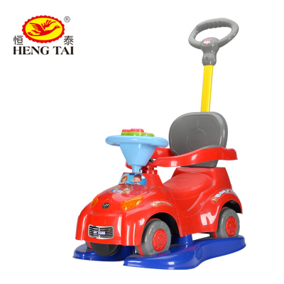Hengtai Children Scooter baby swing car baby stroller toy car with music yo guardrail car