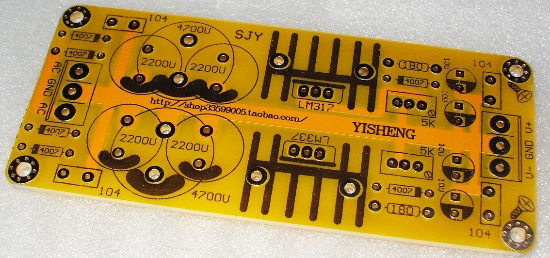 Lm317 Lm337 Adjustable Power Supply Board Dual Power