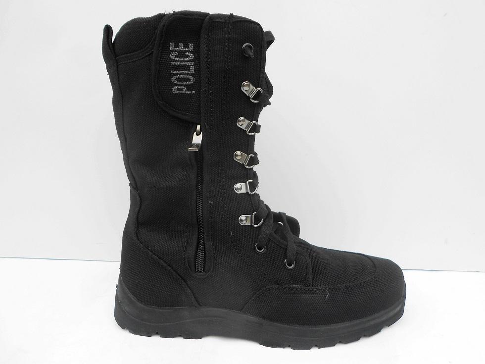 新款高筒特训男式靴子中筒军靴保安超高军鞋黑色正品图片