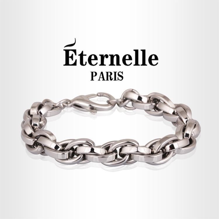 法国Eternelle正品316钛钢手链 男款简约手链 潮男手镯生日送男友