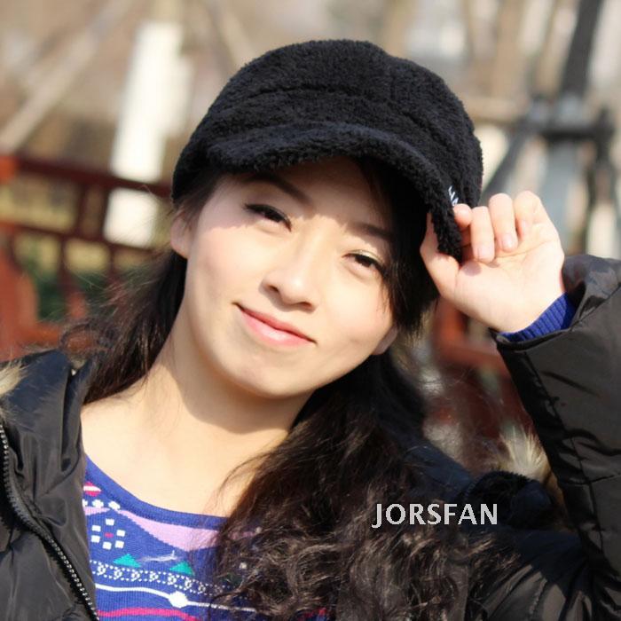 韩版潮人户外毛绒帽平顶帽鸭舌帽棒球帽情侣款男女冬季保暖厚款