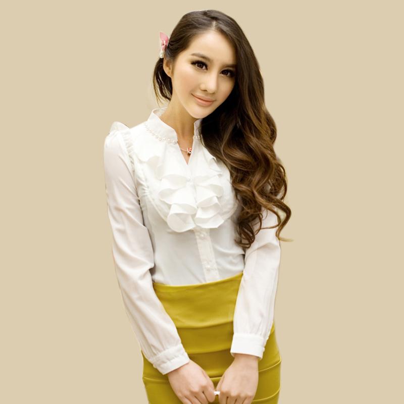 新款秋装职业装OL雪纺 衬衫 女衬衣 衬衫 女 雪纺 韩版 长袖