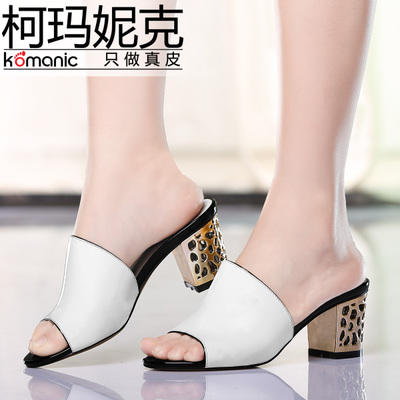 Kema Penny / Komanic new elegant women shoes cow leather high-heeled open-toed sandals and slippers crude K47762