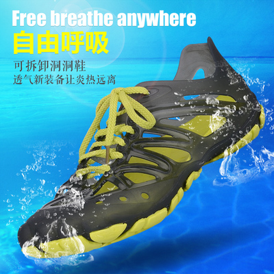 SGKY summer sandals male Korean men's outdoor upstream shoes breathable hole shoes casual sandals men free shipping