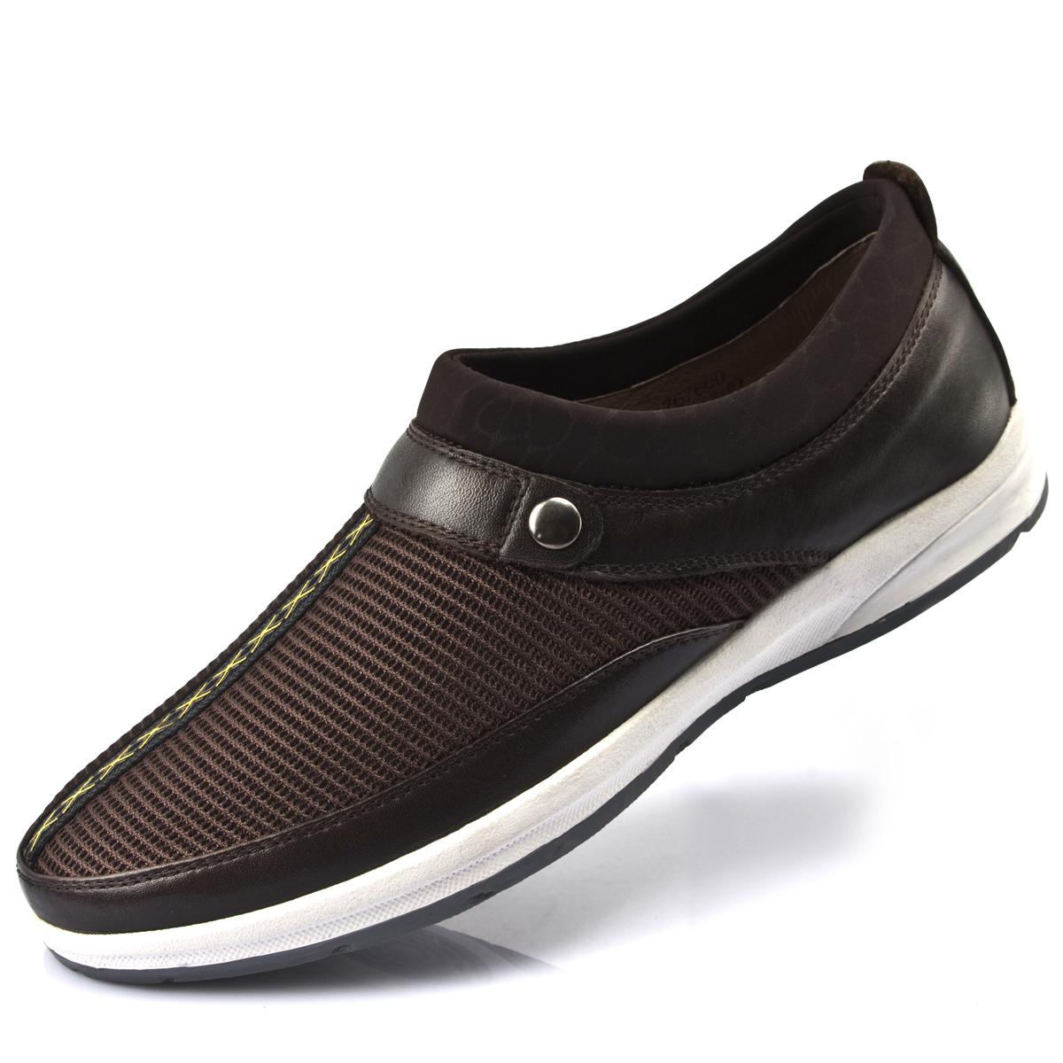 yestony真皮男鞋透气新款男凉鞋超软休闲皮鞋时尚网眼凉鞋405