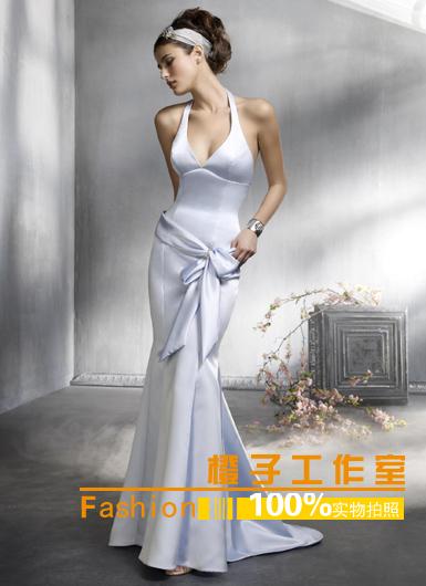 橙子结婚季晚装婚纱20852新娘宴会套脖收腰修身显瘦鱼尾裙礼服2013新款