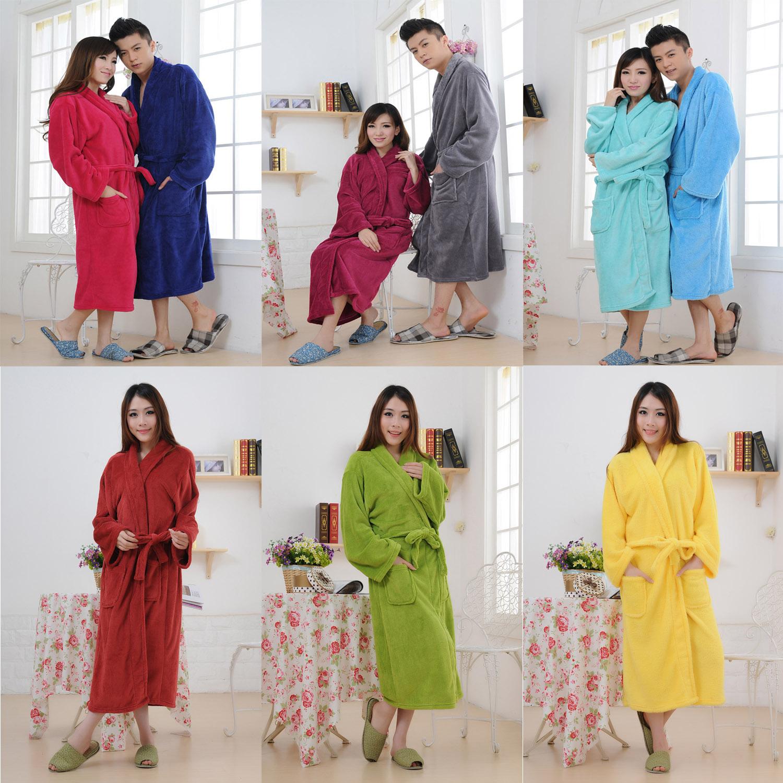 珊瑚绒睡袍女士 珊瑚绒睡衣男士 情侣 加厚浴袍 加长款清仓包邮