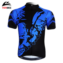 VEOBIKE only sent the blue ghost summer sweat permeability short sleeve cycling jerseys Male bike riding