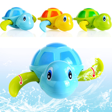 Hui le bath toys Cool swim turtle Paddle fingerling son 527 cartoon on chain water toys