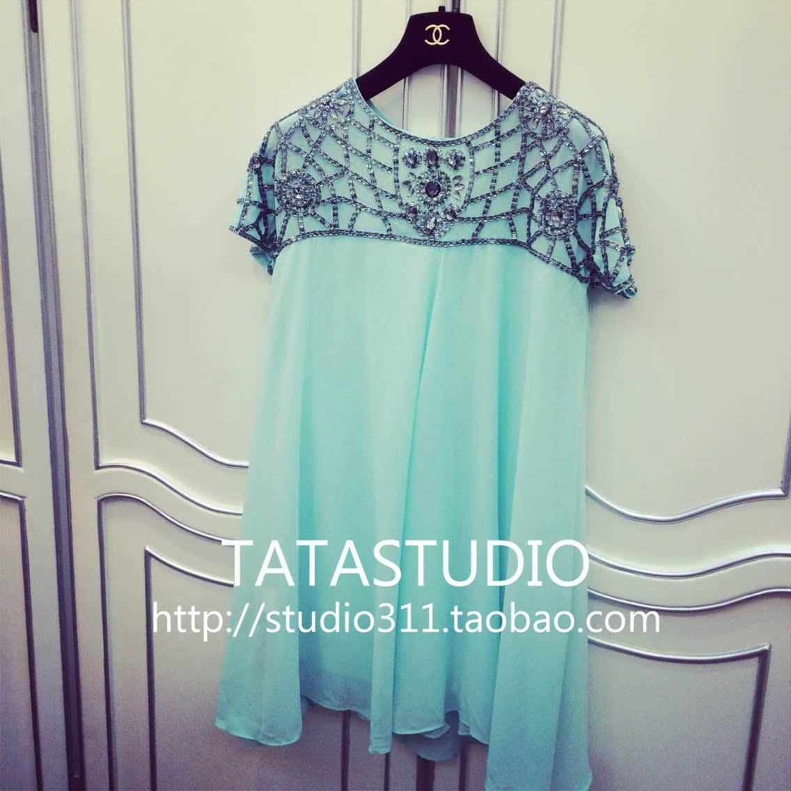 «TATASTUDIO» новой весной 2014 года и летней женской мята свободные платья