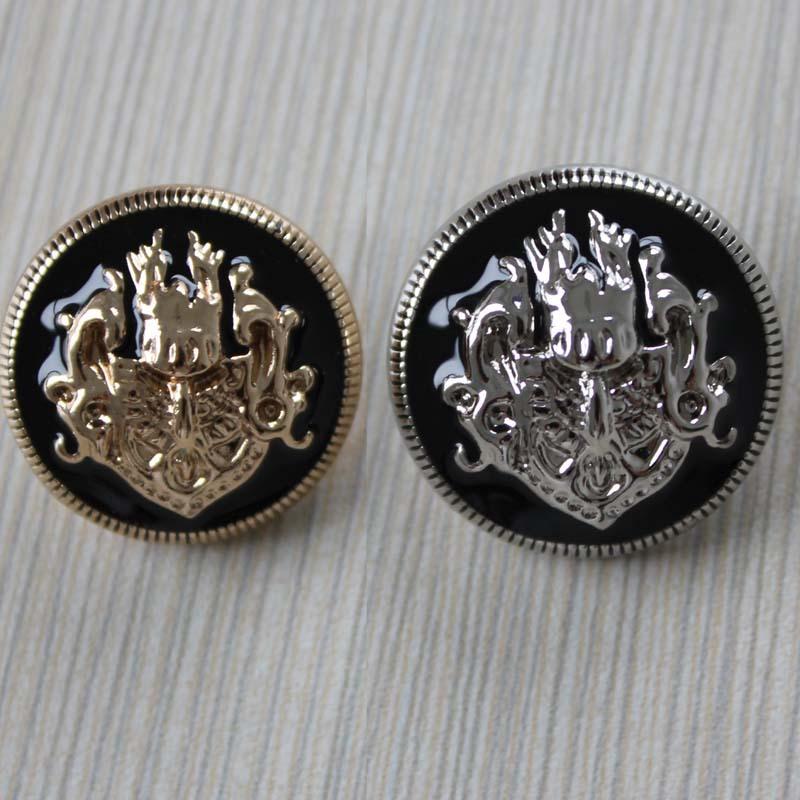 满20包邮高档金属扣子专卖 双狮钮扣/大衣风衣毛衣纽扣/金色银色图片
