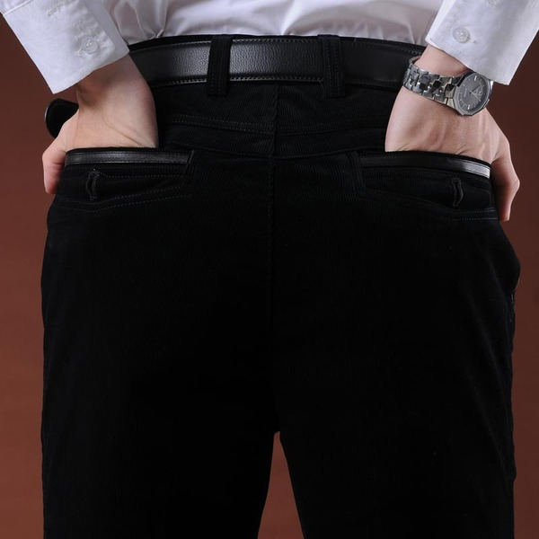 New winter velvet slacks Article Trousers stretch corduroy trousers elderly loose waist long pants