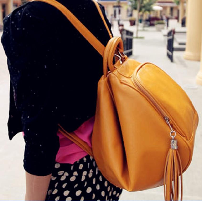 Сумка Осень/зима 2012 новый кисточкой сумка универсальная плечо женщин Рюкзаки Корейский волны три случайных сумки