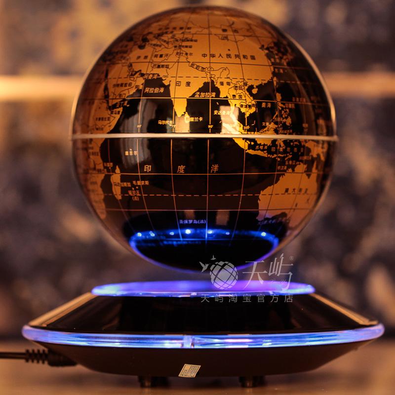 Декоративные украшения 6/8-дюймовый большой НЛО свет вращения магнитного плавающий глобус украшение украшение Рождества день рождения на день нового года