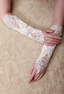 Love pigeon MaxMara white gloves, wedding gloves Bridal Gloves embroidery lace cream wedding dress accessories gloves