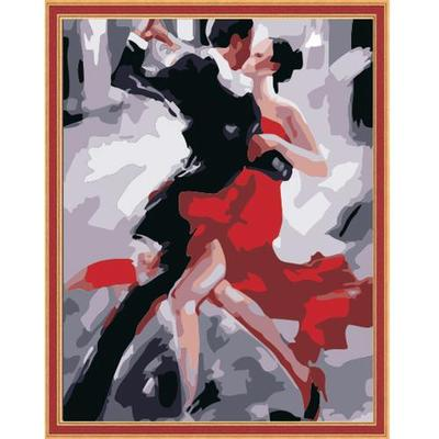 Star rainy night diy digital painting Special characters married couples living room tango two 4050