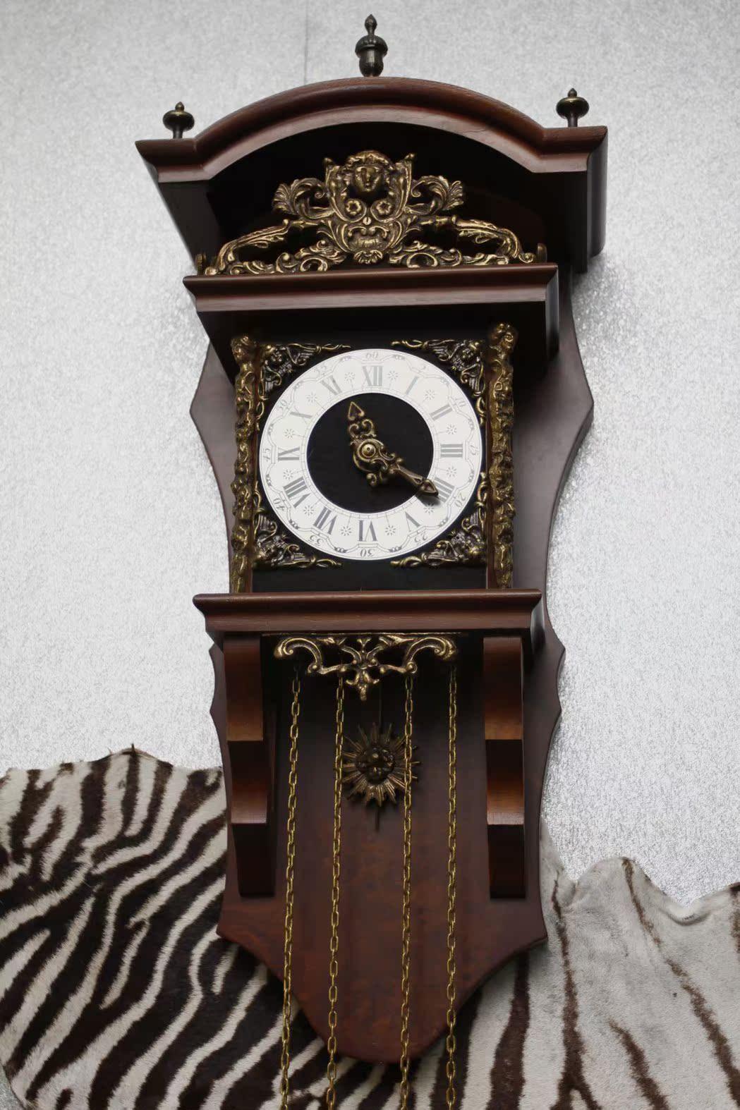 德国古董挂钟个性客厅收藏欧式发条钟表机械老式高级机芯钟表u038图片