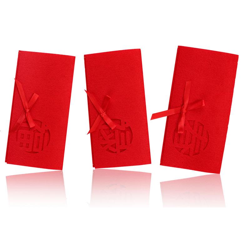 正品热销 ABS高级喜庆节日无纺布环保结婚红包 婚庆红包