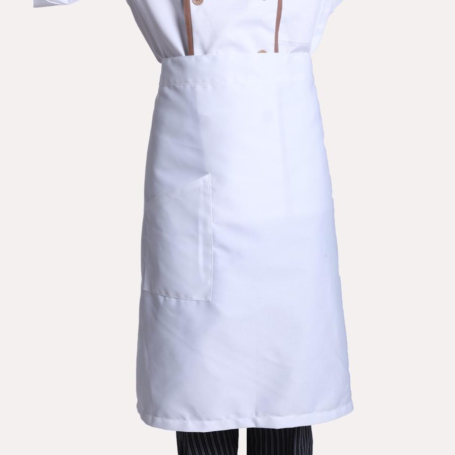 中级厨师�z�)^�W��_颢旭美盈w-111酒店工作服夏装 厨师围裙 白色 西餐厅服务员制服